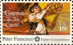 Peter Francisco stamp